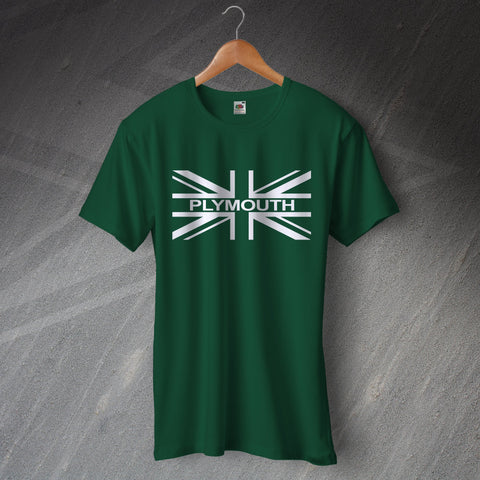 Plymouth Football T-Shirt Union Jack