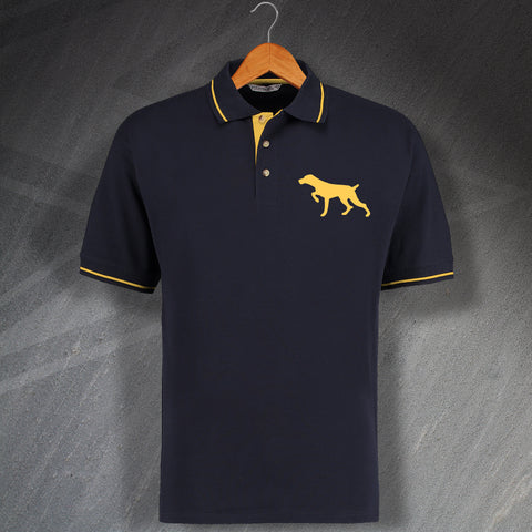 Pointer Embroidered Contrast Polo Shirt