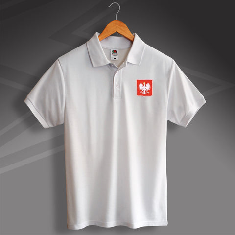 Retro Poland Polo Shirt with Embroidered Badge