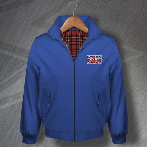 Portsmouth Football Harrington Jacket Embroidered Coloured Pompey Union Jack