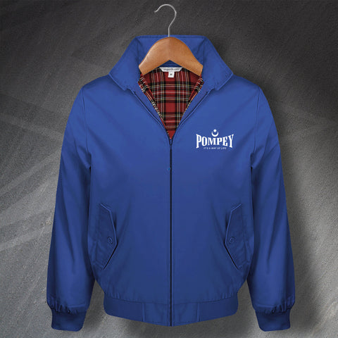 Portsmouth Football Harrington Jacket Embroidered Pompey It's a Way of Life