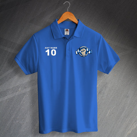Portsmouth Football Polo Shirt Printed Personalised Pompey Keep The Faith