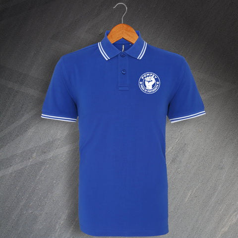 Portsmouth Football Polo Shirt Tipped Pompey Pride of Portsmouth