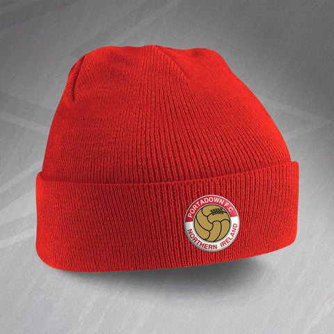 Portadown Football Beanie Hat Embroidered