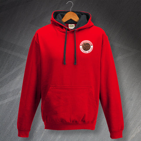 Portadown Football Hoodie Embroidered Contrast