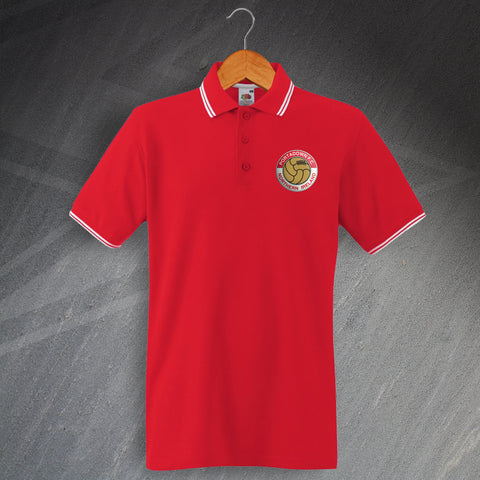 Portadown Football Polo Shirt Embroidered Tipped