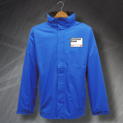 Ipswich Football Jacket Embroidered Waterproof Portman Road