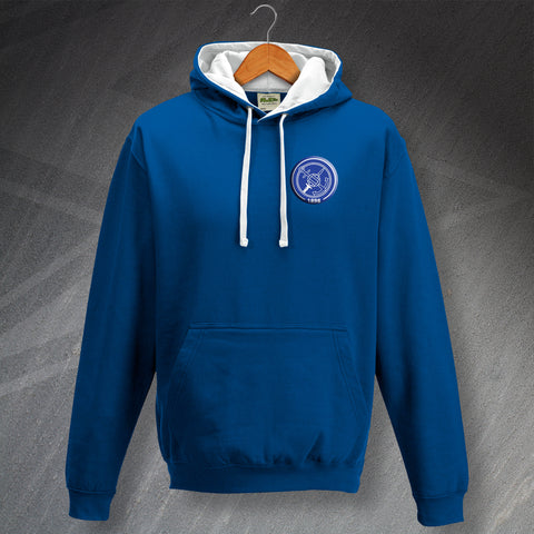 Portsmouth Football Hoodie Embroidered Contrast 1898