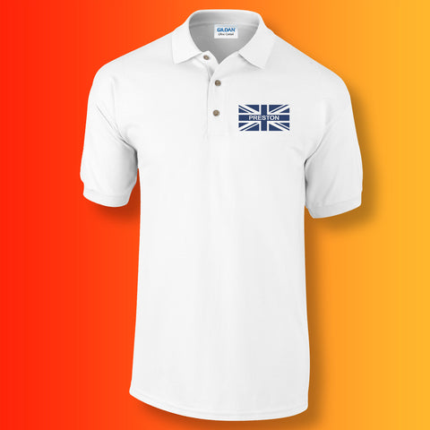 Preston Flag Polo Shirt with Union Jack