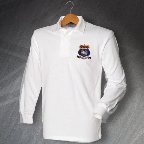 Retro Preston Long Sleeve Football Shirt with Embroidered 1900s Badge