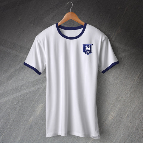 Preston Football Shirt Embroidered Ringer 1933