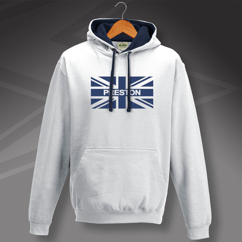 Preston Flag Contrast Hoodie with Union Jack