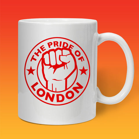 The Pride of London Mug White Red