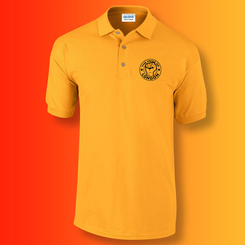 The Pride of London Polo Shirt Gold Black