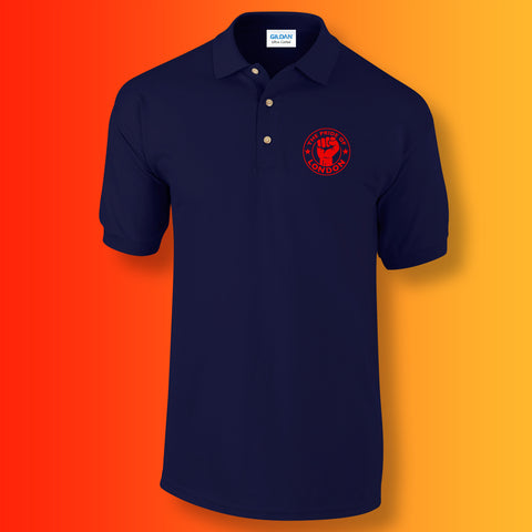 The Pride of London Polo Shirt Navy Red