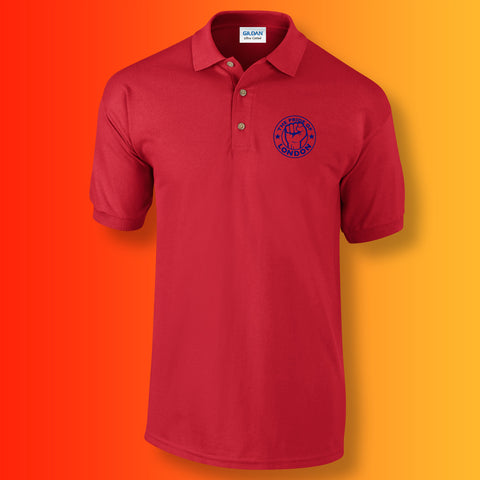 The Pride of London Polo Shirt Red Royal Blue
