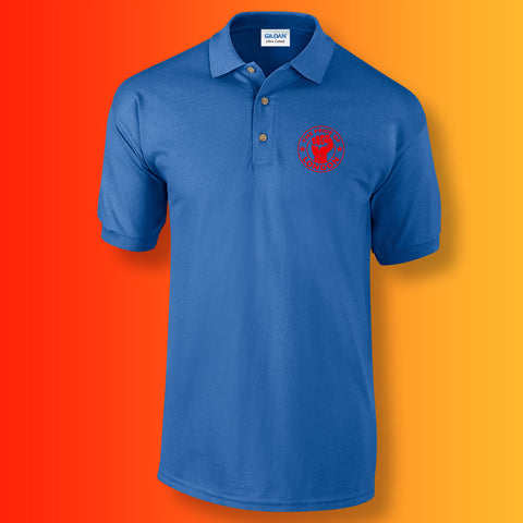 The Pride of London Polo Shirt Royal Blue Red