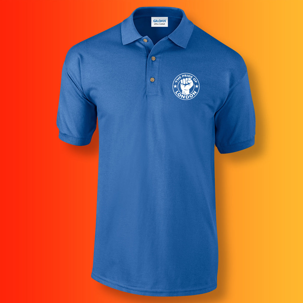 The Pride of London Polo Shirt Royal Blue White