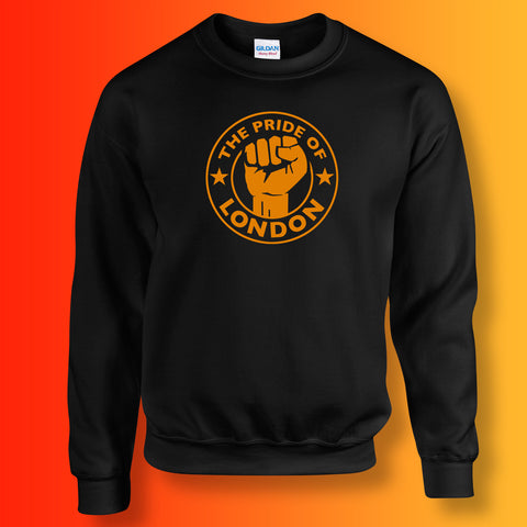 The Pride of London Sweater Black Orange