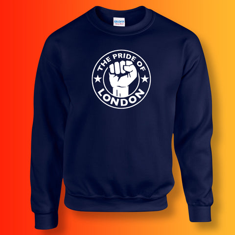 The Pride of London Sweater Navy White