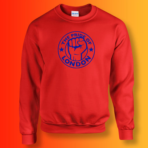 The Pride of London Sweater Red Royal Blue