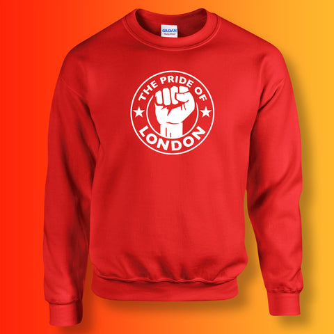 The Pride of London Sweater Red White