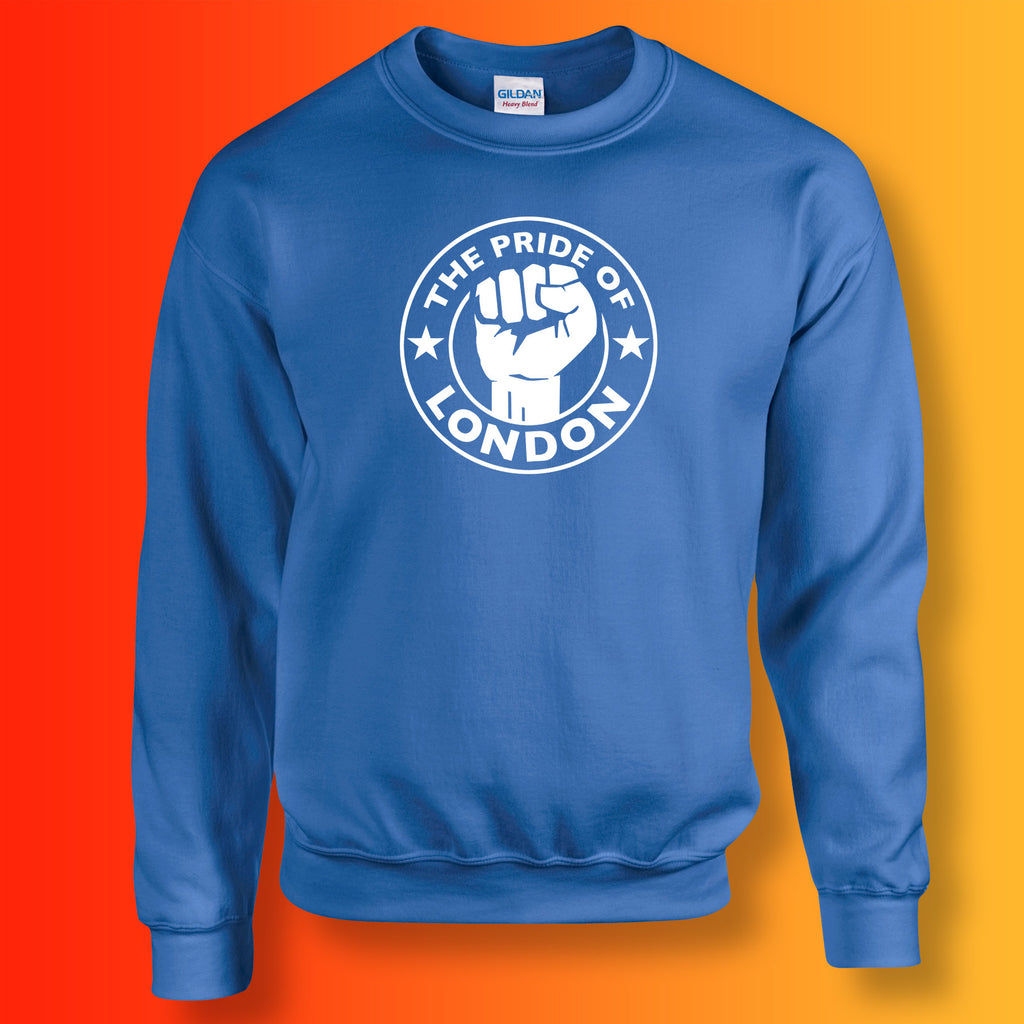 The Pride of London Sweater Royal Blue White