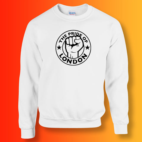 The Pride of London Sweater White Black