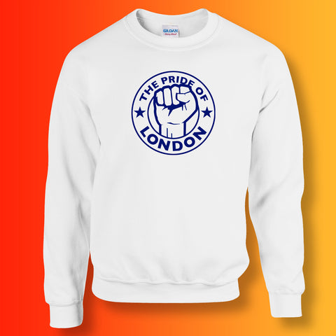The Pride of London Sweater White Navy