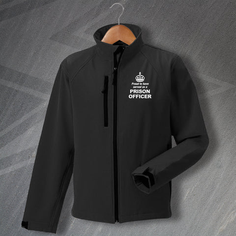 Prison Service Jacket Embroidered Softshell Proud to Have Served as a Prison Officer Crown