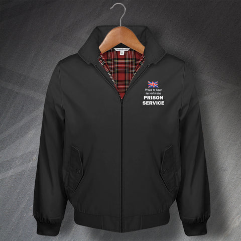 Prison Service Harrington Jacket Embroidered Proud to Have Served Union Jack