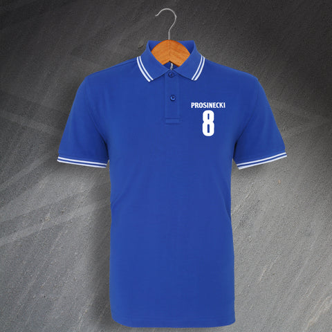 Portsmouth Football Polo Shirt Embroidered Tipped Prosinecki 8