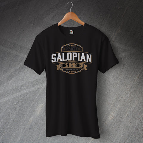 Shropshire T-Shirt Proud Salopian Born and Bred