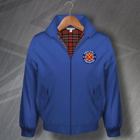 Fire Service Harrington Jacket Embroidered Proud to Be a Firefighter