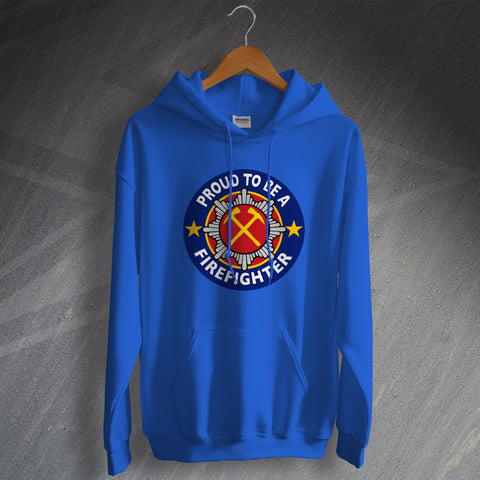 Fire Service Hoodie Proud to Be a Firefighter
