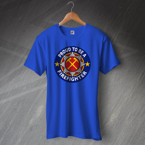 Fire Service T-Shirt Proud to Be a Firefighter