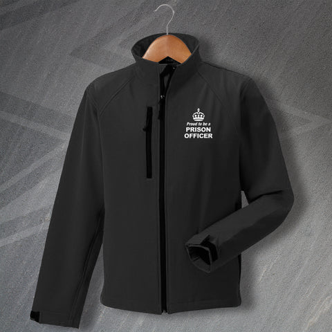 Prison Service Jacket Embroidered Softshell Proud to Be a Prison Officer Crown
