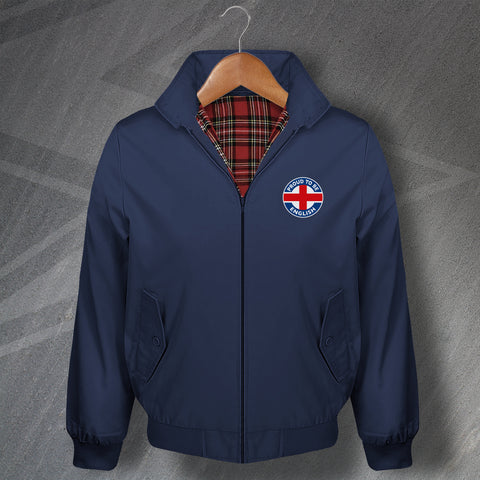England Harrington Jacket Embroidered Proud to Be English