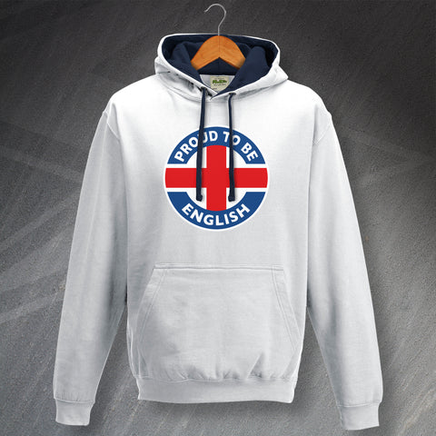 England Hoodie Contrast Proud to Be English