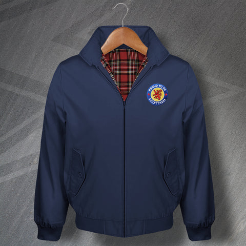 Scotland Harrington Jacket Embroidered Proud to Be Scottish