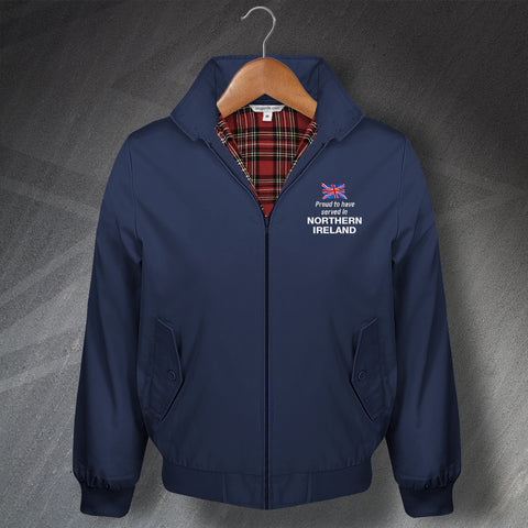 Proud to Have Served In Northern Ireland Embroidered Classic Harrington Jacket