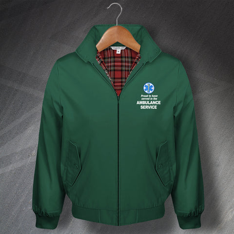 Proud to Have Served In The Ambulance Service Embroidered Classic Harrington Jacket