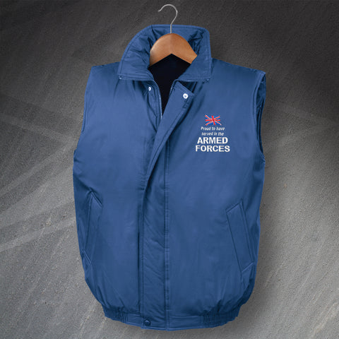 Armed Forces Embroidered Padded Bodywarmer