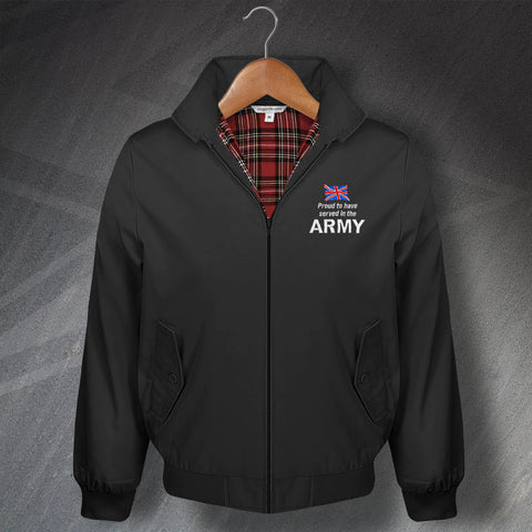 Army Embroidered Classic Harrington Jacket