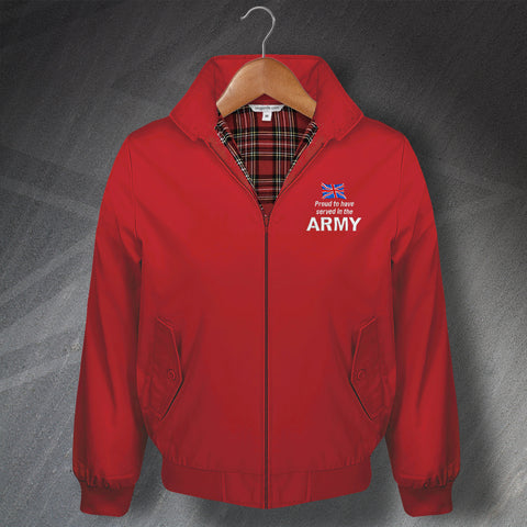 Proud to Have Served In The Army Embroidered Classic Harrington Jacket