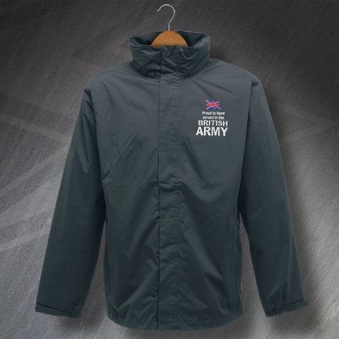 British Army Embroidered Waterproof Jacket