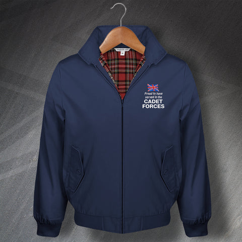 Cadet Forces Harrington Jacket Embroidered Proud to Have Served