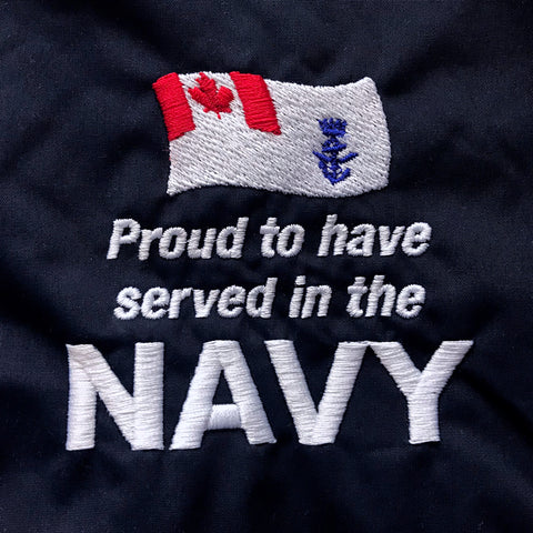 Proud to Have Served In The Canadian Navy Embroidered Badge