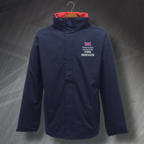 Fire Service Jacket Embroidered Waterproof Proud to Have Served