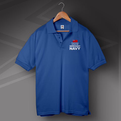 Merchant Navy Polo Shirt Printed Proud to Have Served